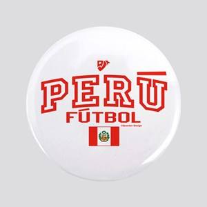 "Peru Futbol/Soccer 3.5"" Button"