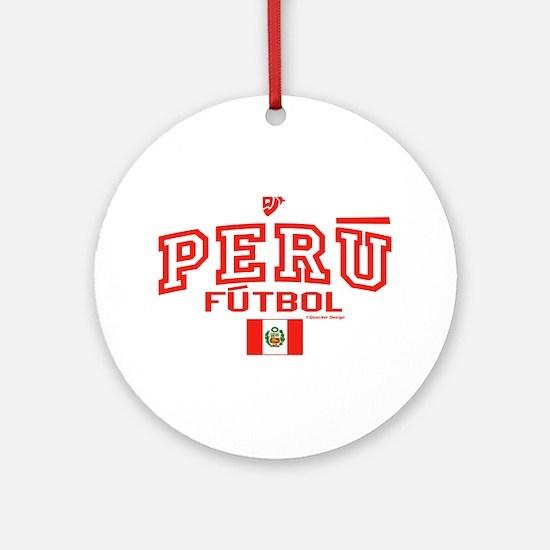 Peru Futbol/Soccer Ornament (Round)