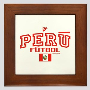 Peru Futbol/Soccer Framed Tile
