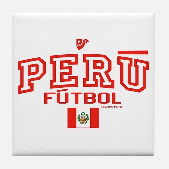 Peru Futbol/Soccer Tile Coaster