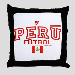 Peru Futbol/Soccer Throw Pillow