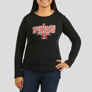 Peru Futbol/Soccer Women's Long Sleeve Dark T-Shir