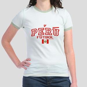Peru Futbol/Soccer Jr. Ringer T-Shirt