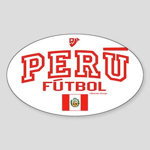 Peru Futbol/Soccer Sticker (Oval)