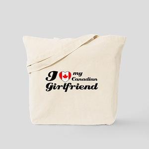I love my Canadian Girlfriend Tote Bag