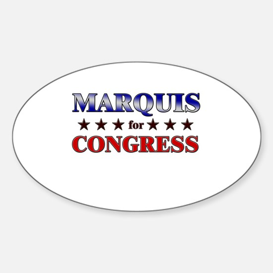 MARQUIS for congress Oval Decal