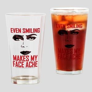 Rocky Horror Face Ache Drinking Glass