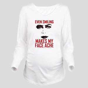 Rocky Horror Face Ac Long Sleeve Maternity T-Shirt