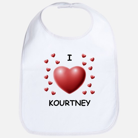I Love Kourtney - Bib