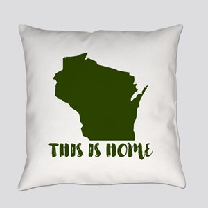 Wisconsin - This Is Home Everyday Pillow