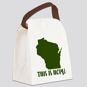 Wisconsin - This Is Home Canvas Lunch Bag