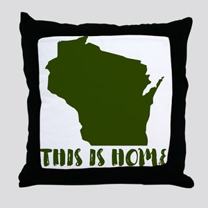 Wisconsin - This Is Home Throw Pillow