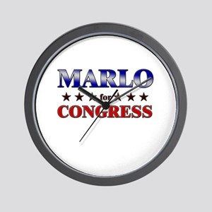 MARLO for congress Wall Clock