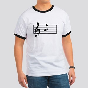 'A' Musical Note T-Shirt