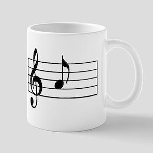 'A' Musical Note Mugs