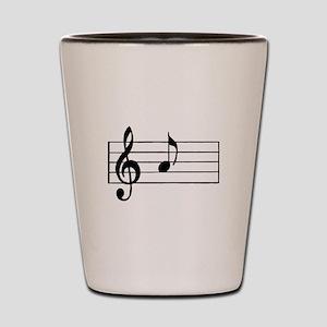 'A' Musical Note Shot Glass