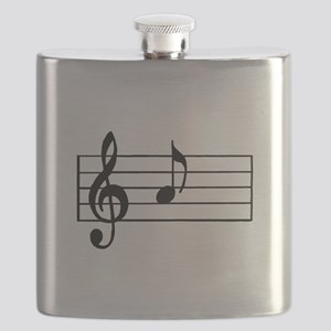 'A' Musical Note Flask