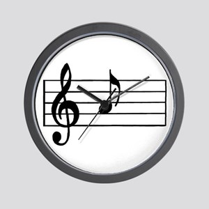 'A' Musical Note Wall Clock