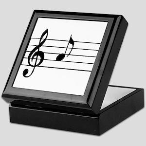 'A' Musical Note Keepsake Box