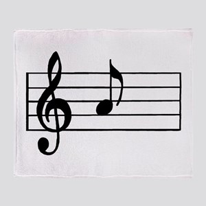 'A' Musical Note Throw Blanket