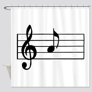 'A' Musical Note Shower Curtain