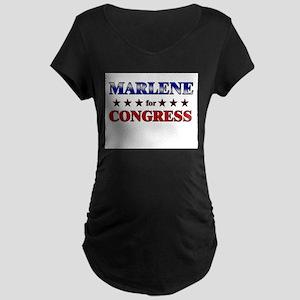 MARLENE for congress Maternity Dark T-Shirt