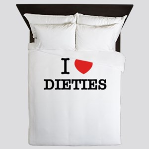I Love DIETIES Queen Duvet