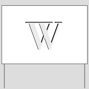 Elegant Monogram Initial Yard Sign