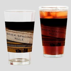 Brick Mason Rule Drinking Glass