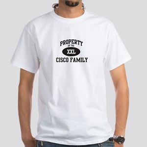 Property of Cisco Family White T-Shirt