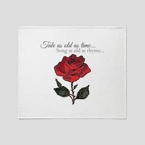 Song As Old As Rhyme Throw Blanket