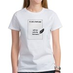 Blank Page Women's T-Shirt