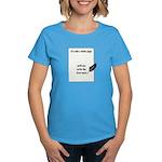 Blank Page Women's Dark T-Shirt
