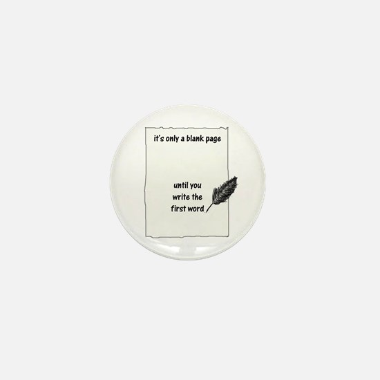 Blank Page Mini Button