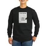 Blank Page Long Sleeve Dark T-Shirt