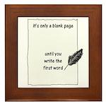 Blank Page Framed Tile