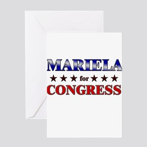 MARIELA for congress Greeting Card
