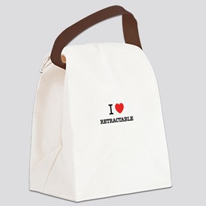I Love RETRACTABLE Canvas Lunch Bag