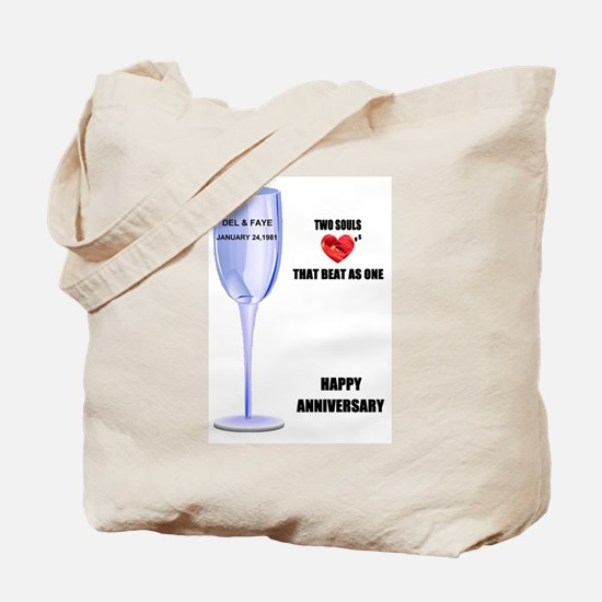 DEL AND FAYE ANNIVERSARY GIFTS Tote Bag