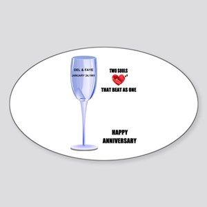 DEL AND FAYE ANNIVERSARY GIFTS Oval Sticker