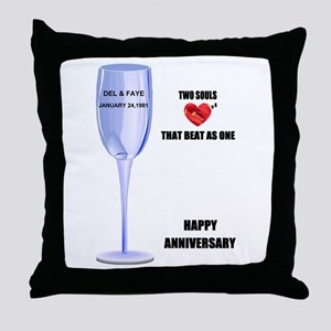 DEL AND FAYE ANNIVERSARY GIFTS Throw Pillow