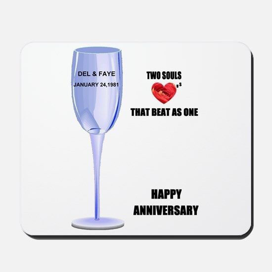 DEL AND FAYE ANNIVERSARY GIFTS Mousepad