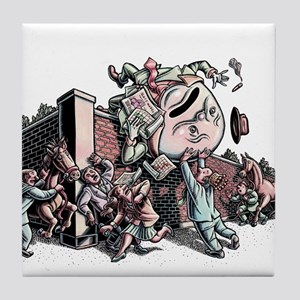 Humpty Dumpty in Business Suit Tile Coaster