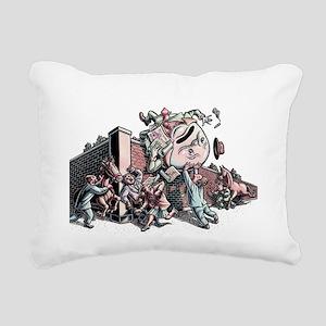 Humpty Dumpty in Busines Rectangular Canvas Pillow