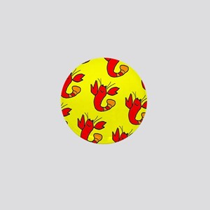Cute Smiling Lobster Boy Designer Mini Button