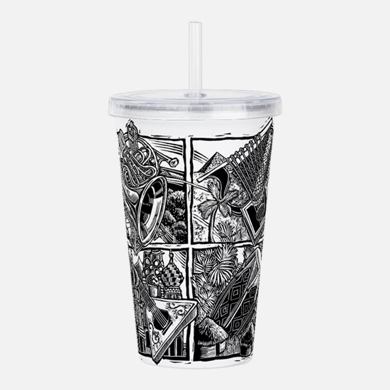 World Music Instrument Acrylic Double-wall Tumbler