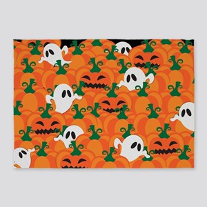 Halloween Haunted Pumpkin Patch 5'x7'Area Rug