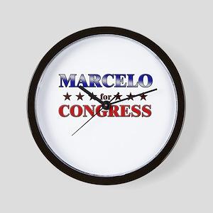 MARCELO for congress Wall Clock