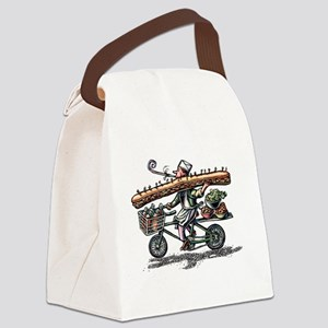 Sandwich Delivery Man with Huge S Canvas Lunch Bag