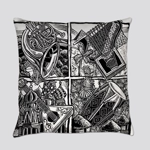 World Music Instruments Everyday Pillow